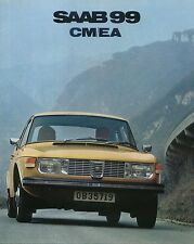 Saab 99 1850 CM & EA Saloon 1971-72 Original UK 20pp Sales Brochure GB5P71019/2