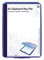 Blu A4 File Box Appunti Carta Portaoggetti Ordine Scuola College Ufficio Copx