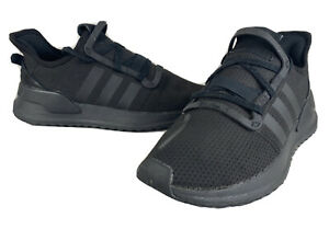 Boys Adidas U Path Run Sneakers Black Running Shoes SIZE 6.5