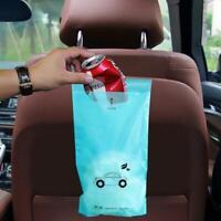 50pcs Vehicle Car Seat Back Hanging Trash Storage Garbage Sealed Bags Rubbi H3T9
