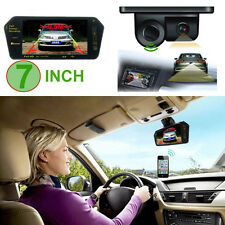 "7"" Bluetooth MP5 Rearview Mirror Monitor +2 in 1 Car Parking Radar Backup Camera"