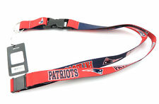 NEW ENGLAND PATRIOTS NFL Football Licensed Team Colors Reversible Lanyard