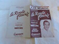 GEORGES GUETARY - Partition JOLIE MEUNIERE - LA ROUTE FLEURIE !!!