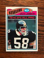 1977 Topps #480 Jack Lambert Football Card Pittsburgh Steelers AFC All Pro Raw