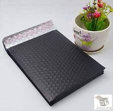500 #0 Matte Metallic Black Poly Bubble Mailers Envelopes 6x10 DVD Wide CD
