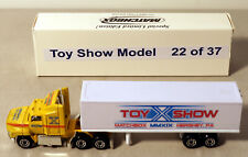 DTE 2019 HERSHEY MATCHBOX 10TH TOY SHOW YELLOW FORD AEROMAX CONVOY TRUCK 1 OF 22