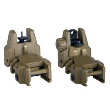 Tactical Flip-Up Folding Back Up Front & Rear Sight Set for Rifle 20mm Rail