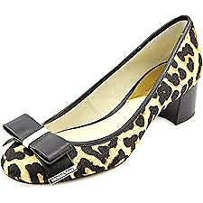 Michael Kors Women's Kiera Mid Pump Natural Cheetah Haircalf/Vachetta Pump 8 M