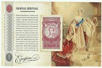 2010 $5 Dollar Australia Stamp Mini Sheet 'Colonial Heritage - Empire'