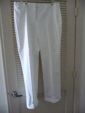 Talbots White Cotton Pants Size 16 NWT