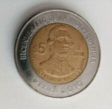 MEXICAN COIN $5PESOS FRANCISCO PRIMO DE VERDAD BICENTENARIO INDEPENDENCIA 2010