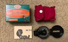 Vintage WFS Engineers Lensatic Compass Original Box Instructions Scouts 111