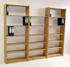Massivholz Bibliothek Kiefer gelaugt geölt Büroregal Bücher-regal Holz Regale