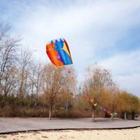 Rainbow Single Line Parafoil Kite Pouch Easy Outdoor Toy Frameless Xmas Gift