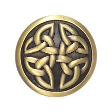 VINTAGE oro in ottone Irlandese Celtico Rotondo Nodi Fibbia della Cintura Gratis Scatola Regalo Nuova