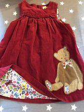 Mini Boden Baby Girls Teddy Bear Cord Dress 12-18 Months