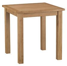 Alberta Oak Small Fixed Top Square Dining Table 75m 75cm 78cm
