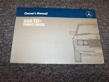 1985 Mercedes Benz 300TD Turbo Diesel Wagon Owner Owner's Operator Manual 3.0L