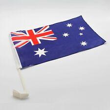 2x Australia Car Flags w Clip Australian National Day Aussie Oz Souvenir 30x47cm