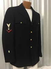 VINTAGE US MILITARY NAVY USCG WOOL DRESS COAT MEN'S 36L DRESS USN BOATSWAIN PO3