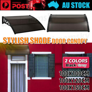 1.0M/1.2M/1.5M Window Door Awning Outdoor UV Rain Cover Patio Canopy Sun Shield