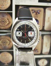 V RARE VINTAGE 60'S/70'S CAUNY PRIMA VALJOUX 7733 CHRONOGRAPH WATCH SUPER DIAL