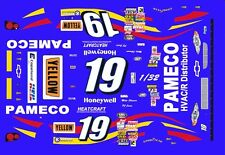 #19 Mike Skinner Pameco Chevrolet 2000 1/32nd Scale Slot Car Waterslide Decals