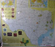 National Geographic large pull down school map, Texas, with clear overlay, 70 in