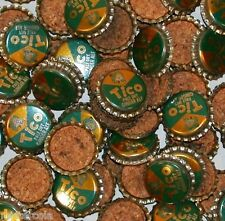 Soda pop bottle caps Lot of 25 TICO GINGER ALE cork lined unused new old stock