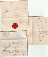 1819/54 3 DIFF HEREFORD PMKS ON 2 WRAPPERS & 1 LETTER R? WARBURTON RE EDW HARRIS