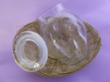 Empty Clear Glass Bean Pot - Candlemaking, Candle Jar**680g