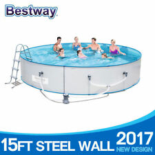 Bestway Steel Sidewall Above Ground Swimming Pool 15ft 460x90cm Hydrium Splasher