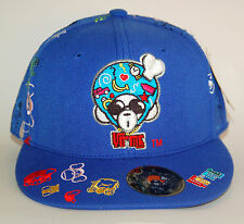 REDUCED NWT Yo Me Concrete Jungle Baseball Cap Hat Blue Embroidered L 7 3/4