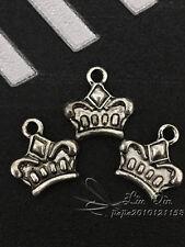 PJ130 20pc Tibetan Silver Dangle Charm Imperial crown Beads Jewelry Findings