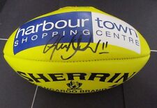 North Melbourne - Glenn Archer signed Yellow Sherrin Football-NMFC-Harbour Town