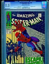 Amazing Spider-Man #65 Marvel Comics 1968 CGC Graded 8.5