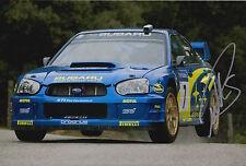 Petter Solberg Hand Signed Subaru Impreza 12x8 Photo Rally World Champion 5.