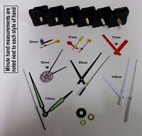 Replacement Quartz Clock Mechanism Movement Hands inc Luminous, DIY Repair Kit