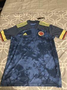 Adidas Colombia 2020 Jersey Away Blue MEDIUM Men's Soccer Football  FI5295