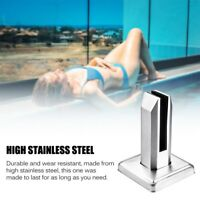 1 SET Stainless Steel Spigots Frameless Glass Pool Balustrade Fence Clamp AU