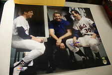 Ny Mets Jerry Koosman Signed 16X20 Photo 1969 Ws Champs W/Tom Seaver Leaf Cert