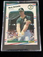 1988 Fleer Baseball Mark McGwire #298 HOF Athletics Centered. Benefits Charity❤️