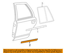 Mercury FORD OEM Grand Marquis REAR DOOR-Body Side Molding Right 5W3Z5425556CPTM