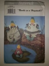 """Butterick 3594 Dinglehoppers Stuffed Frogs 17"""" 12.5"""" Tall Needle in a Haystack"""