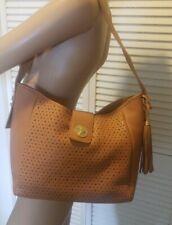 Isaac Mizrahi  Genuine Leather Bridgehampton Perforated  Hobo Purse Bag  $164