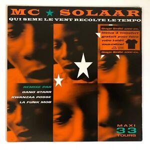 """MC SOLAAR QUI SEME LE VENT RECOLTE LE TEMPO 12"""" REMIX 1991"""