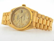 Mens Rolex Day-Date President 18K Yellow Gold Watch Champagne 8+2 Diamond 1803
