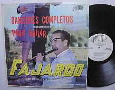 FAJARDO con Su Flauta Y Orquesta LP DANZONES COMPLETOS instrumentales