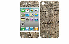 COQUE  iphone 4 EN RESINE 3D STICKERS REPOSITIONNABLE ASPECT BOIS N° 50