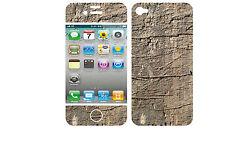 COQUE  iphone 4 EN RESINE 3D STICKERS REPOSITIONNABLE ASPECT BOIS N° 50